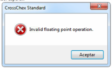 """""""operation in invalid floating point""""."""